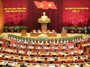 越共第十一届中央委员会第十四次全体会议闭幕