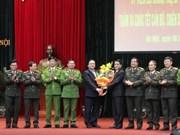 河内市市委书记黄忠海向本市公安局和首都司令部干部战士拜年