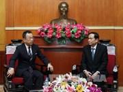 越南祖国阵线中央委员会副主席会见世界宗教和平组织副秘书长