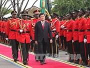越南国家主席张晋创与坦桑尼亚总统马古富力举行会谈