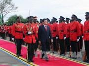 坦桑尼亚举行最高规格仪式欢迎越南国家主席张晋创到访