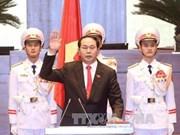 世界各国领导人向越南新任国家主席陈大光和国会主席阮氏金银致贺电