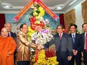 越南胡志明市领导人向老挝和柬埔寨驻胡志明总领事馆工作人员致以节日祝福