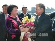 越南国会主席阮氏金银会见老挝人民革命党中央委员会总书记、国家主席本扬•沃拉吉