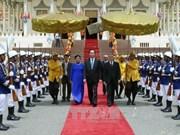 越南国家主席陈大光访柬的相关活动(组图)