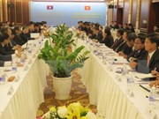 越老边境工作代表团第25次年度会议在岘港市召开