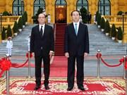 陈大光举行仪式欢迎法国总统弗朗索瓦·奥朗德访越(组图)
