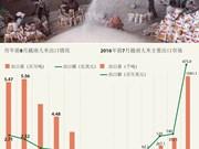 今年前8月越南大米出口呈现下降趋势