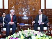 越南国家主席陈大光会见捷克和摩拉维亚共产党主席