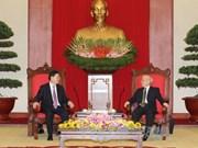 阮富仲总书记会见中国全国人大常委会委员长张德江
