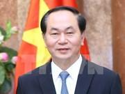 越南国家主席陈大光和夫人对古巴进行正式访问