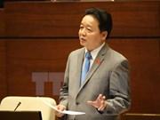 第十四届国会第二次会议: 自然资源与环境部部长陈红河回答国会代表质询
