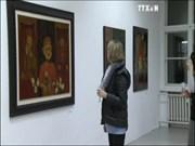 越南磨漆画展正在德国首都柏林利希滕贝格区开展