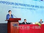 越南2017年APEC峰会优先议题研讨会在河内开幕