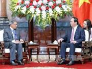 越南国家主席会见国际客人
