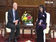 国家副主席向国际SOS儿童村主席授予劳动勋章