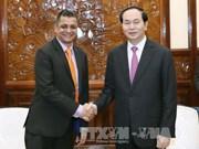 陈大光主席会见塔塔越南总经理印得罗尼·森古普塔