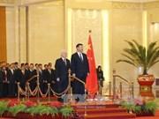 中共中央总书记习近平举行仪式 欢迎越共中央总书记阮富仲访华