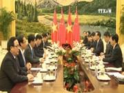 越共中央总书记阮富仲在京期间开展一系列会见活动
