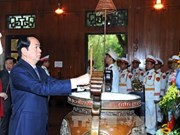 国家主席陈大光春节前赴乂安省看望慰问困难群众