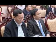 越南国家主席陈大光与中央工作代表团看望慰问第九军区武装力量
