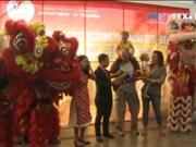"""岘港市迎接2017丁酉春节首批外国游客""""冲年喜"""""""