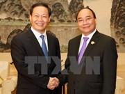 阮春福总理会见中国广西壮族自治区党委书记彭清华