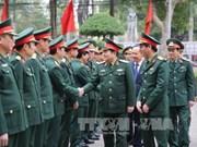 越共中央军委副书记吴春历大将莅临清化省军事指挥部调研