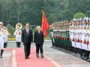 国家主席陈大光举行仪式欢迎日本天皇明仁和皇后访越