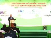 阮春福总理考察越南自主开发的废物再生能源项目