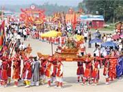 雄王庙会迎轿仪式   越南民族一直保留的美好传统文化