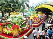 越南南部水果节热闹登场