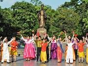 东盟与中国、韩国儿童街头艺术活动在河内还剑湖周边举行(组图)