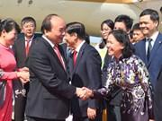 阮春福总理抵达东京开始对日本进行正式访问