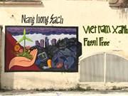 胡志明市年轻画家用手绘壁画传递环保理念
