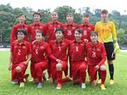 第29届东运会:越南女足队3比1战胜缅甸女足队(组图)