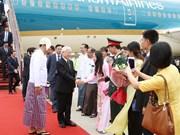 阮富仲总书记开始对缅甸进行国事访问(组图)