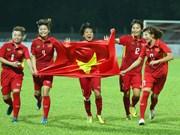 越南女足队以6-0击败马来西亚女足队夺得金牌(组图)