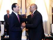 越南国家主席陈大光会见古巴驻越大使(组图)