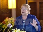 智利总统巴切莱特高度评价越南举办能力