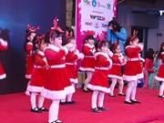 红色圣诞节活动   给患儿营造温馨愉快的圣诞气氛