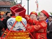 迎水祭鱼仪式——南定省陈祠庙会的重要礼仪