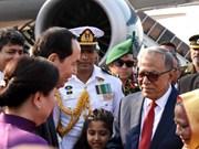 越南国家主席陈大光和夫人抵达首都达卡 开始访问孟加拉国