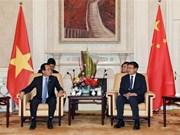 河内市祖国阵线代表团对中国进行工作访问