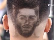 球星图案剃发为世界杯渲染气氛