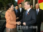 越南国会主席阮生雄会见柬埔寨和老挝国会主席