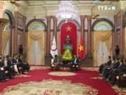 越南国家主席陈大光会见法语国家组织秘书长米夏埃尔•让
