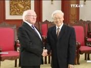 越共中央总书记阮富仲会见爱尔兰共和国总统麦克•希金斯