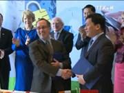 胡志明市领导会见爱尔兰总统