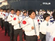 东南亚与日本青年船11日抵达越南胡志明市
